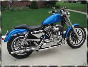 Blue HD Sportster