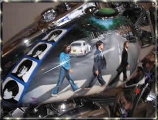 The Beatles Abby Road custom motorcycle paint job
