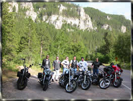 Group Motorcycle transports Sturgis