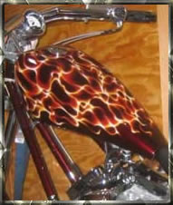 Flamed air brush fuel tank