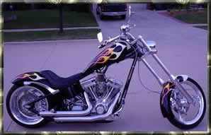 black flamed chopper