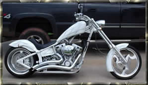 white flamed chopper