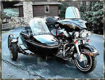harley davidson ultra with side car